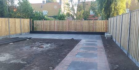 tuinpad in Etterbeek aanleggen
